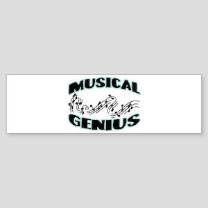 Musical Genius Bumper Sticker