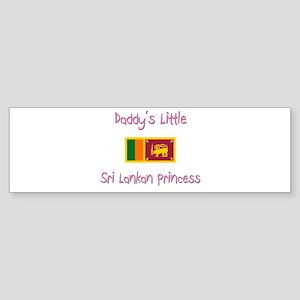 Daddy's little Sri Lankan Princess Sticker (Bumper