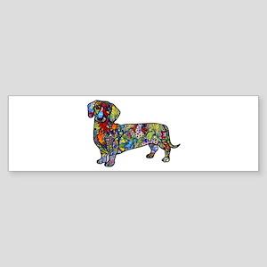 Wild Dachshund Sticker (Bumper)