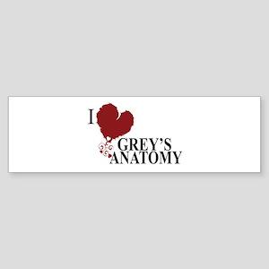I Love Grey's Anatomy Sticker (Bumper)