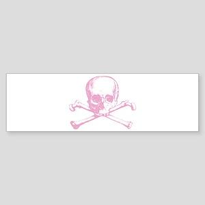 Pink Cross Bones Bumper Sticker