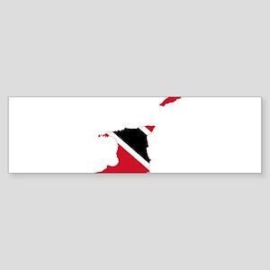 Trinidad and Tobago Flag and Map Sticker (Bumper)