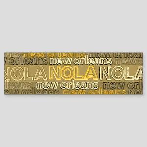 NOLA Gold Bronze Design Bumper Sticker