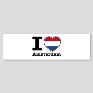 I love Amsterdam Sticker (Bumper)