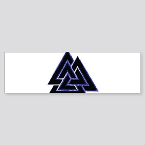 Valknut (blue) Sticker (Bumper)