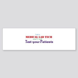 I am a Lab Tech Sticker (Bumper)