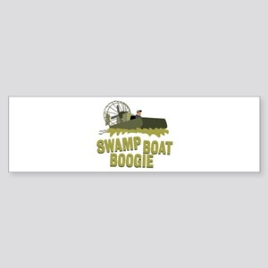 Swamp Boat Boogie Bumper Sticker