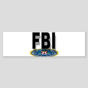FBI Seal With Text Bumper Sticker