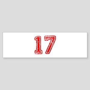 17-Col red Bumper Sticker