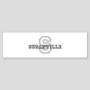 Susanville (Big Letter) Bumper Sticker