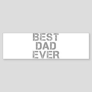 best-dad-ever-CAP-GRAY Bumper Sticker