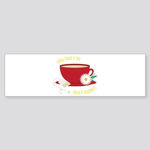 Tea Is Happiness Bumper Sticker