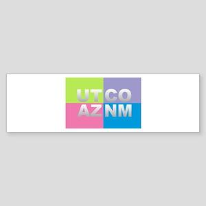 Four Corners USA Bumper Sticker