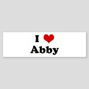 I Love Abby Bumper Sticker