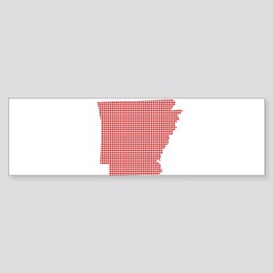 Red Dot Map of Arkansas Bumper Sticker
