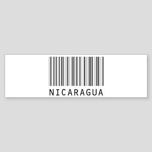 NICARAGUA Barcode Bumper Sticker