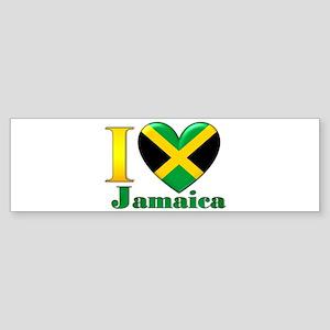 I love Jamaica Sticker (Bumper)