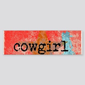 COUNTRY STAR COWGIRL Bumper Sticker