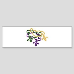 Mardi Gras Beads Bumper Sticker