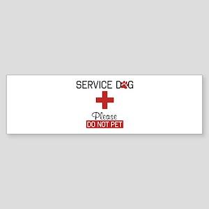 Service Dog Please Do Not Pet Bumper Sticker