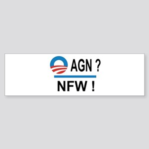 Obama Again ? NFW ! Sticker (Bumper)