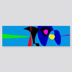 Abstract Expressionism Simple Digital Art Bumper S