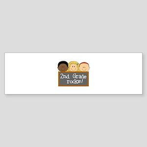 SECOND GRADE ROCKS Bumper Sticker