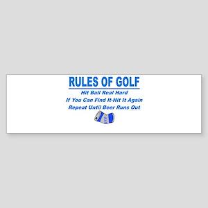 Rules Of Golf Bumper Sticker