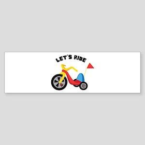 Lets Ride Bumper Sticker