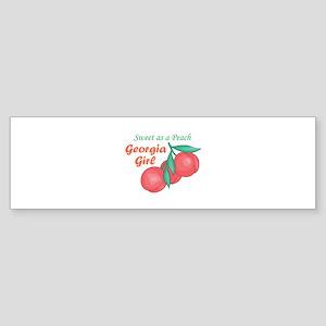 Sweet As A Peach Georgia Gire Bumper Sticker