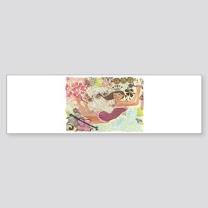 Flying Queen Bumper Sticker