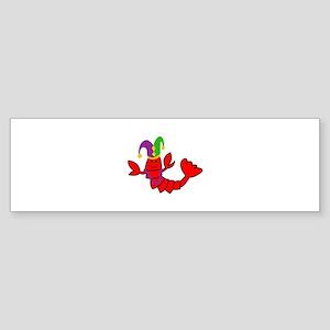 MARDI GRAS CRAWFISH Bumper Sticker