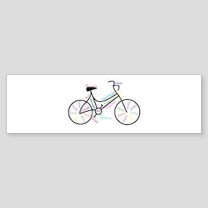 Motivational Words Bike Hobby or Sport Bumper Stic