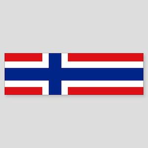 Norway flag Sticker (Bumper)