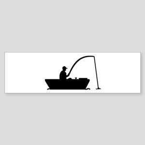 Angler Fisher boat Sticker (Bumper)