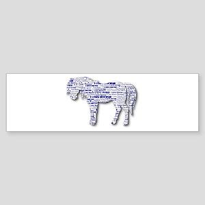 I LOVE HORSES Sticker (Bumper)