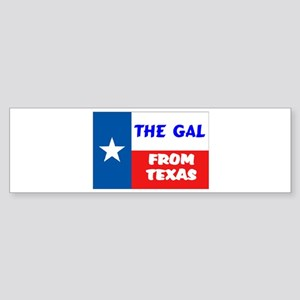 TEXAS GAL Bumper Sticker