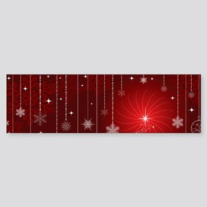 Decorative Christmas Ornamental Sno Bumper Sticker