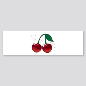 Sparkling Cherries Bumper Sticker