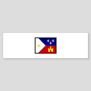 FLAG OF ACADIANA Bumper Sticker