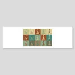Mandolin Pop Art Bumper Sticker