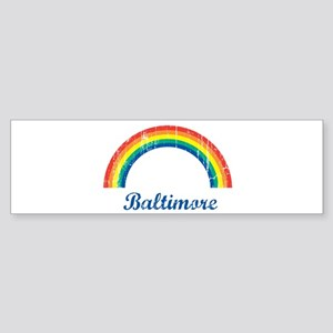 Baltimore (vintage rainbow) Bumper Sticker