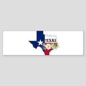 Texas Watercolor Flowers Texan Stat Bumper Sticker