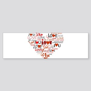 Love Heart Sticker (Bumper)