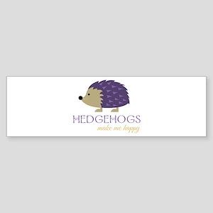 Happy Hedgehogs Bumper Sticker