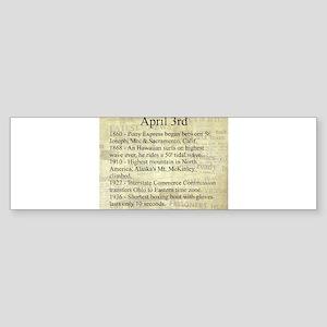 April 3rd Bumper Sticker
