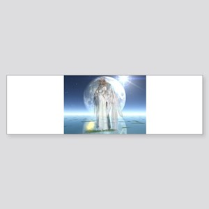 Moon Angel Bumper Sticker