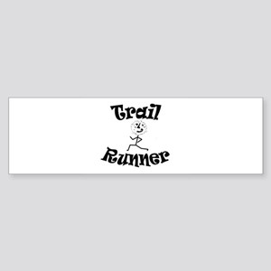 Trail Runner Stick Person Sticker (Bumper)