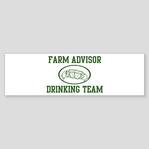 Farm Advisor Drinking Team Bumper Sticker