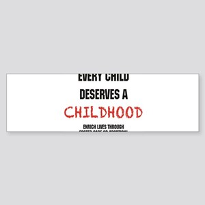 Updated.every child.black and red Bumper Sticker